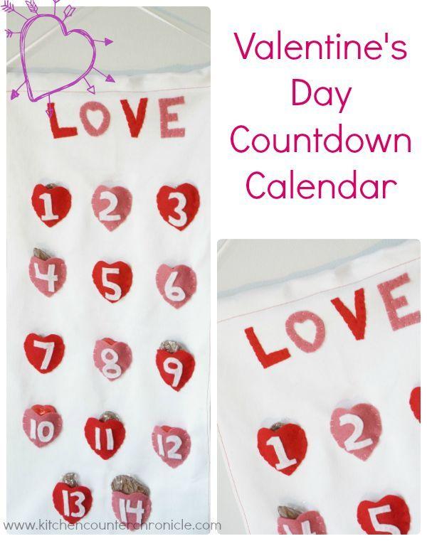Valentine Calendar Ideas : Ideas about countdown calendar on pinterest