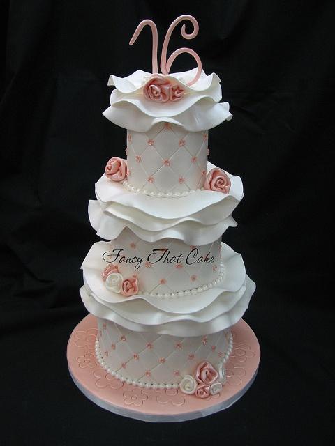 www.fancythatcake.ca  My sweet 16 cake made by Fancy That Cake! :) <3