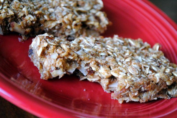 Healthy Honey Almond Hazelnut Granola Bars  @Peanut Butter Fingers