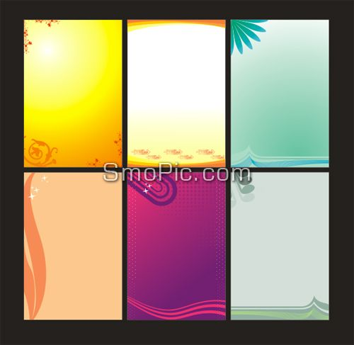 6 free vector poster X banner background design template coreldraw CDR file download-Vector,PSD layered,icons,3D material,web templates