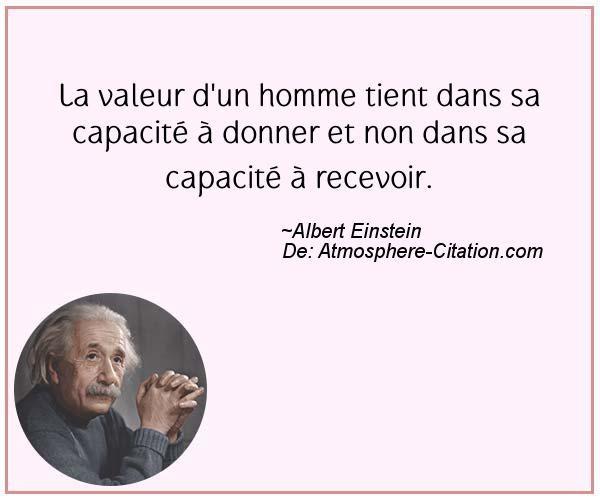 Citation de Albert Einstein – Proverbes Populaires