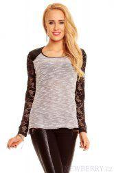 Dámský pulovr Best Emilie šedo-bílý