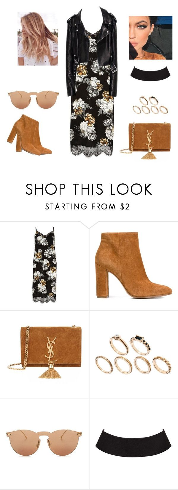 """16.06"" by gabriel-sampaiooo on Polyvore featuring River Island, Gianvito Rossi, Yves Saint Laurent, ASOS and Illesteva"