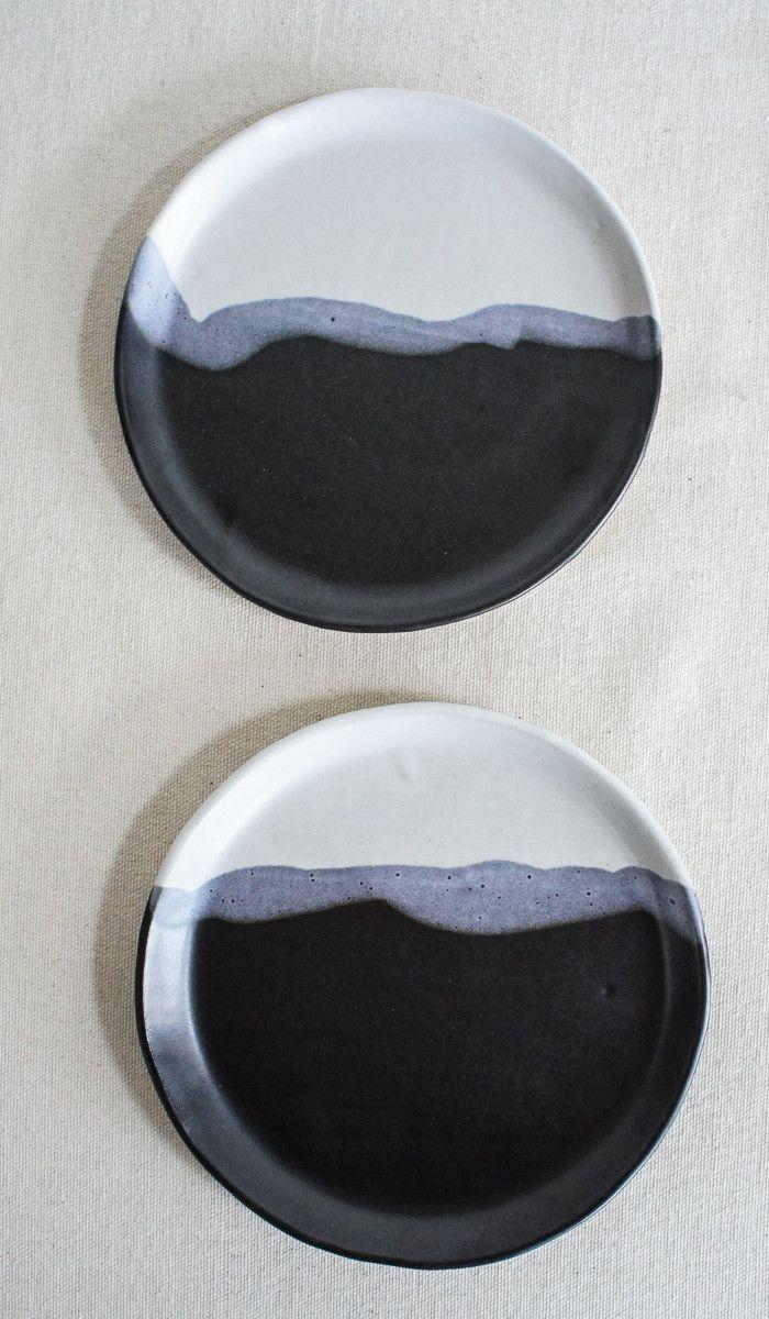 Len Carella Stoneware Plates
