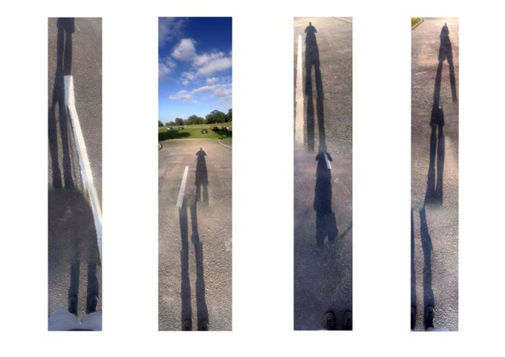 Roger Bygott - 'White Line and Shadow Panoramas' (Misuse of apps series). 2013