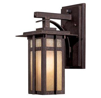 View the The Great Outdoors GO 71191-PL Energy Star Rated Craftsman / Mission Single Light Outdoor Wall Sconce from the Delancy Collection at Build.com. $1454