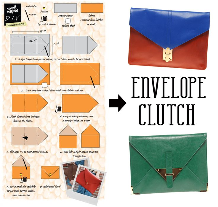 clutch!: Ideas, Craft, Fashion, Envelopes, Envelope Clutch, Diy'S, Clutches, Clutch Bags