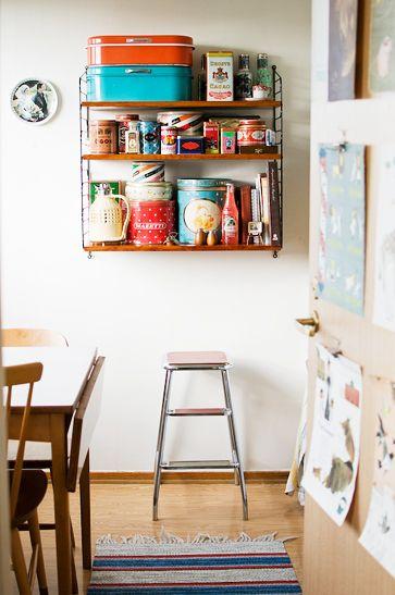storage solutions: Vintage Tins, Interior Ideas, Glebe Dreams, Nice Shelving