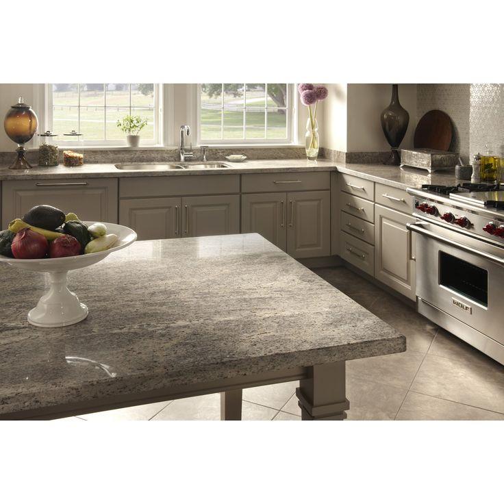 Shop Sensa Silver Silk Granite Kitchen Countertop Sample At Kitchen Pinterest