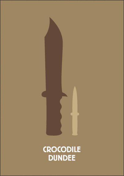 Crocodile Dundee. Minimalist Movie Poster