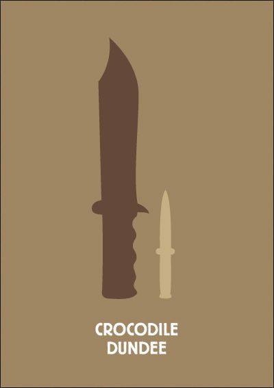 Crocodile Dundee. Minimalist Movie Poster
