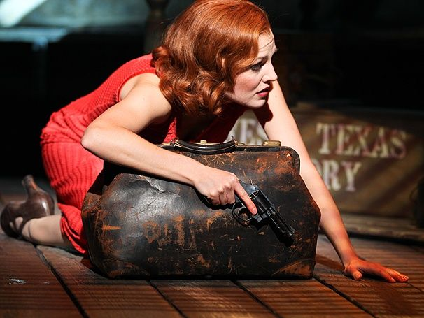 #5 Bonnie Parker in Bonnie and Clyde.(Here she is played by Laura Osnes in the 2012 broadway production.
