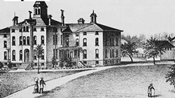 Sketch of the Lake County Poorhouse - Now the Lake County History Center via Media Lab blogger Lake County Visitors Bureau