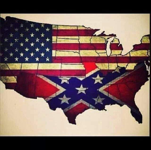 The united states! Southern Tip of Illinois needs to be in that rebel flag!!!!!