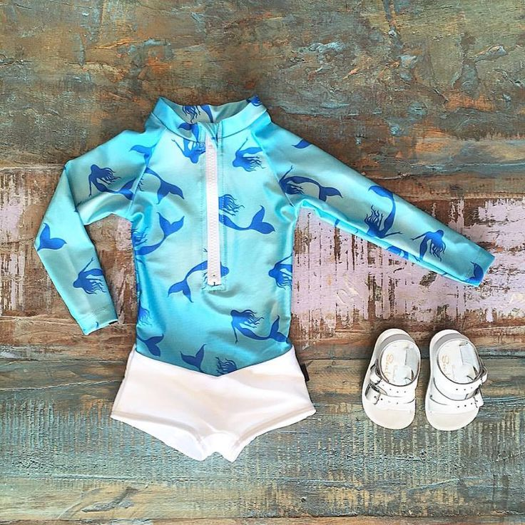 NEW • Oceana Blue mermaid cove swimsuit & Salt Water Sandals Sea Wees. Shop these styles at Tiny Style in Noosa & online •  www.tinystyle.com.au/Shop-Insta