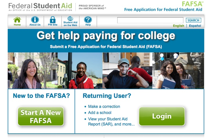 FAFSA (Federal Application for Student Aid) Website    If you are Unsure about your FA status, this is the place you need to be.  You can:  -Start a New FAFSA   -Retrieve Login Info. for a Current FAFSA  -Apply for or Check on your PIN #  -List potential Colleges on your FAFSA  -Get info. that Explains your FA Award.    http://www.fafsa.ed.gov/