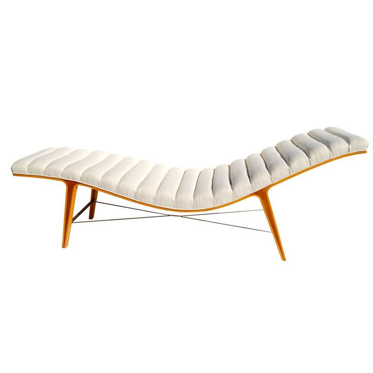 """1stdibs - Rare Edward Wormley for Dunbar """"Listen To Me"""" Chaise Longue explore items from 1,700  global dealers at 1stdibs.com"""