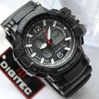 jam tangan pria cowok Digitec sport DG 2078T list putih Original 100%