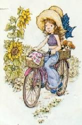 I love this one! Makes me smile ... makes me think of my sister but I can't see scrufty staying in that basket¬