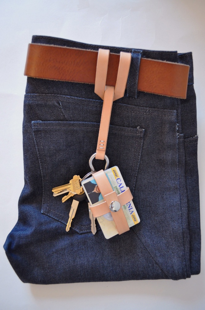 Ox & Tree Leather Goods — Belt Keeper Lanyard, $18. shown with Chris-cross Cardcase, $18