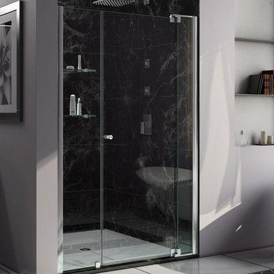 """DreamLine DreamLine Allure  49"""" x 73"""" Pivot Frameless Shower Door"""