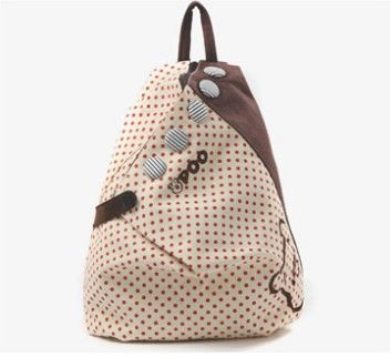 Find More Backpacks Information about MerryTm polka dot school bags for girls canvas backpacks women backpack 2015 summer female travel bags white ivory red,High Quality school bag leather,school bag college Suppliers, Cheap school bag black from MerryTm High quality products