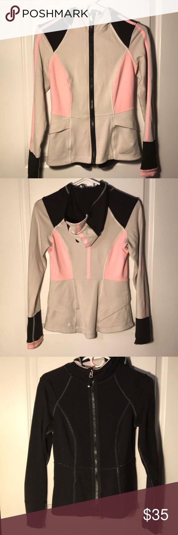 Reversible lululemon studio surf hoodie Gorgeous pink cream design, reverses to all black. lululemon athletica Tops Sweatshirts & Hoodies