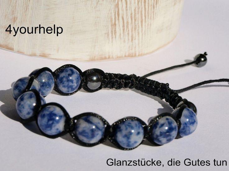 Flechtarmbänder - Shamballa, mit Sodalith und Hämatit - ein Designerstück von 4yourhelp bei DaWanda