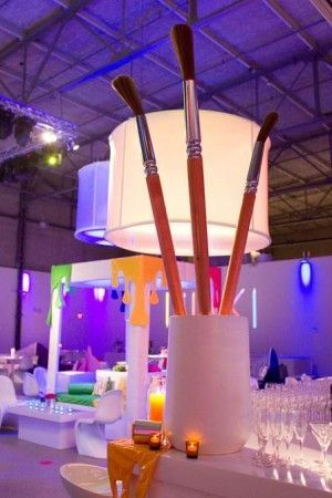 """When """"color"""" is the theme of a Bat Mitzvah celebration. From Victoria Dubin Events."""