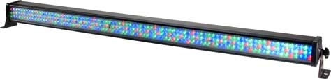 The ADJ Mega Bar LED RC is a 40-inch (1-meter) LED lighting Bar that offers the power of RGB color mixing for stage or wall washing. The Mega Bar LED RC features an Infrared wireless remote to control what would normally require a DMX controller or adjustments made by hand on the rear panel. Aim the wireless remote at the unit and control features such as: Black Out, built-in programs, flash, DMX addressing and RGB color change.