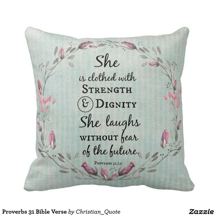 Proverbs 31 Bible Verse Pillow #proverbs31 #bibleverse #pillows