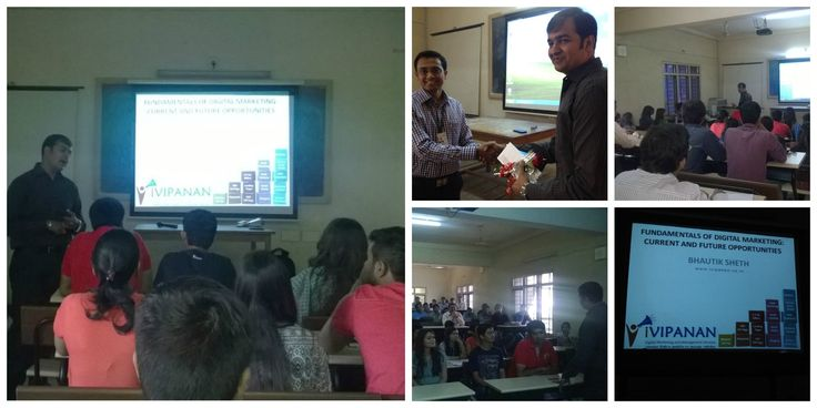 Seminar on #DigitalMarketing at S.R.Luthra Institute of Management in #Surat by @ivipanansurat  www.ivipanan.co.in