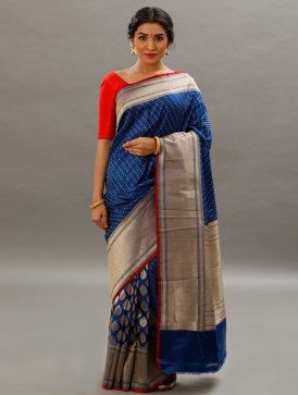 Blue Banarasi Saree