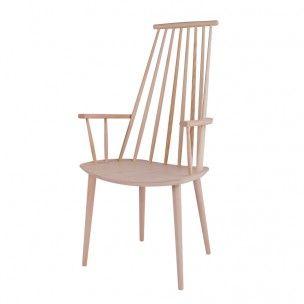 HAY - Stuhl J110, 106cm| SCHÖNER WOHNEN-Shop Stuhl mit Armlehnen aus massiver Buche, geseift oder farbig lackiert