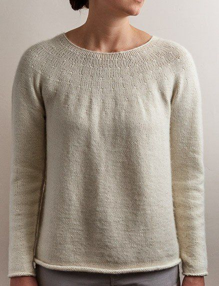 Top Down Circular Yoke Pullover Pattern Pdf Crochet