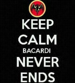 Bacardi never ends..