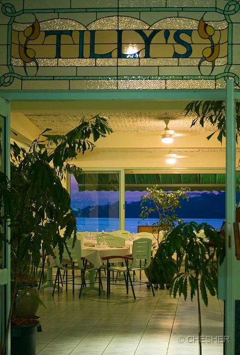 Tilly's restaurant entrance Chantilly's on the Bay Port Vila Vanuatu