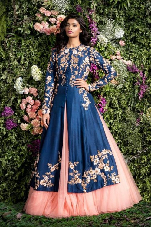 """color scheme?  """"Enchanted Forest"""" by Shyamal and Bhumika (Spring/Summer 2016) #indianfashion"""