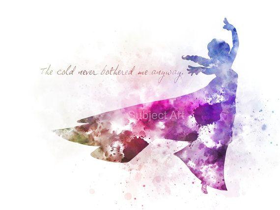 ART PRINT Elsa inspired Quote illustration Disney Frozen – Cori
