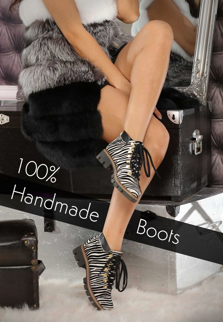 A pair of leather boots with prints are comfy, elegant and extremely chic @j