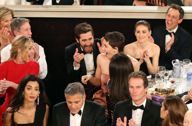 Pin for Later: The Moment They Won: Priceless Shots of Award Season's Winners Maggie Gyllenhaal When the actress won a Golden Globe for her miniseries The Honourable Woman, she and her brother, Jake, looked like the two happiest people alive.