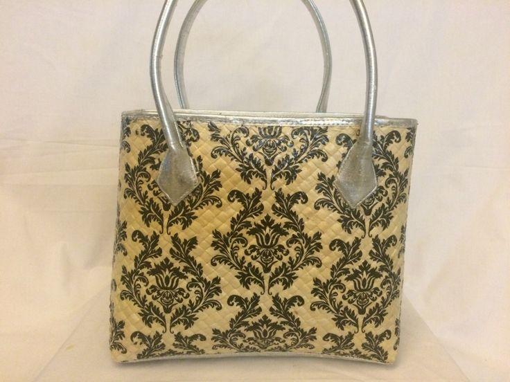 Medium size bag with black & white patterns