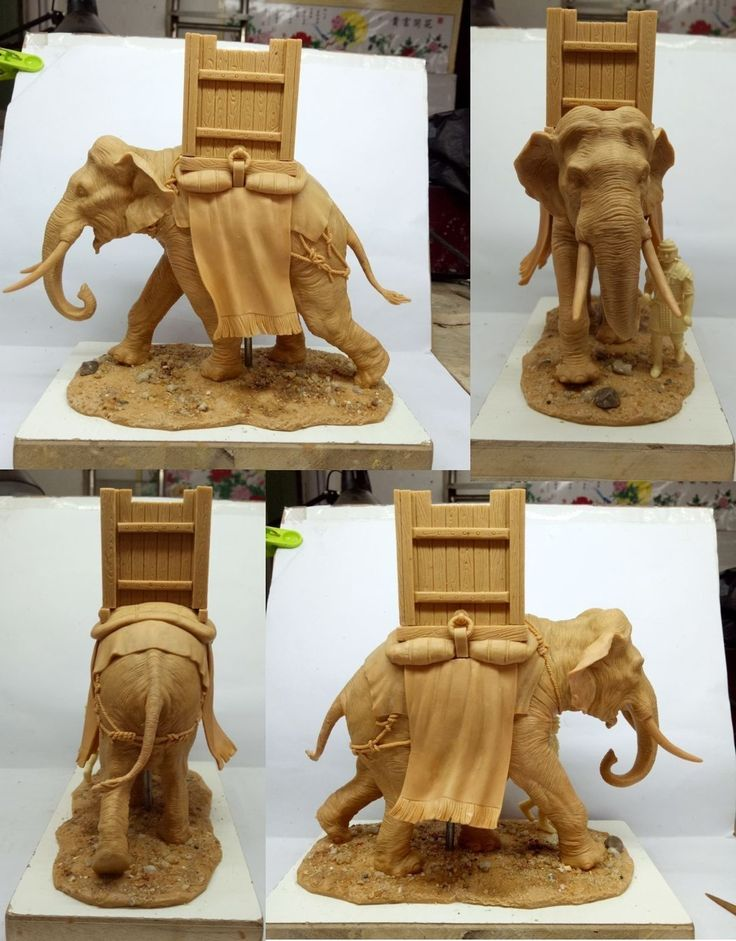Thomas Gunn's New Roman War elephant Prototype on Military Miniatures H.Q. curated by carlos codina