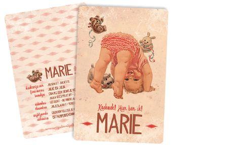 Geboortekaart Marie - Julien et Juliette: Originele geboortekaartjes