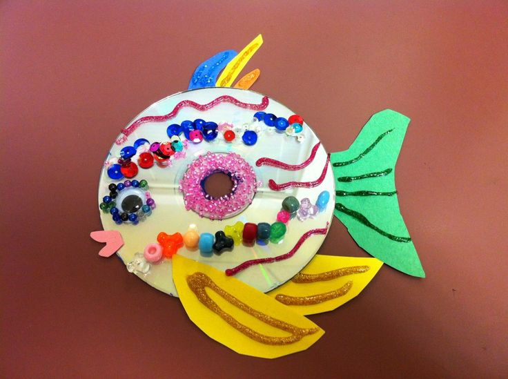 fish crafts | cd fish craft