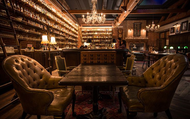 Multnomah Whisk{e}y Library | Portland's hottest restaurant is a speakeasy-like bar in a former piano store, with stained-glass skylights and more than 1,100 types of whiskey. Order an Old-Fashioned from the roving bar cart and, for dinner, Kentucky fried quail with a smoked-blue-cheese biscuit.