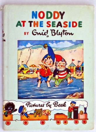 """Noddy is a character created by English children's author Enid Blyton, originally published between 1949 and 1963. Television shows based on the character have run on British television since 1955 and continue to appear to this day. Noddy is a little wooden boy who lives in his own little House-for-One in Toyland and has many """"special"""" friends. Ahh, another childhood memory!"""