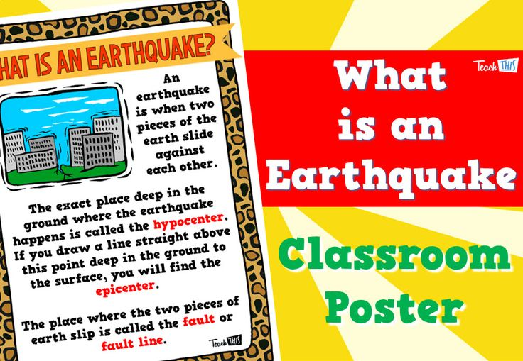 What is an Earthquake - Poster