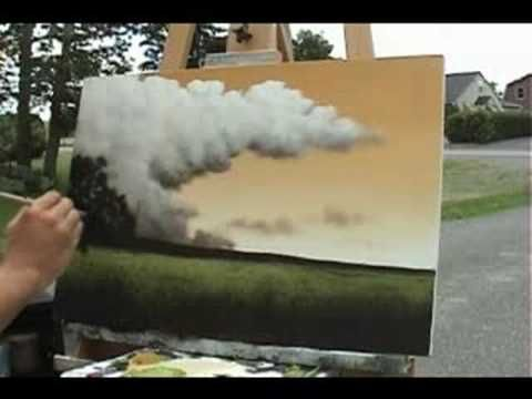 Time Lapse Speed Painting a landscape by Tim Gagnon