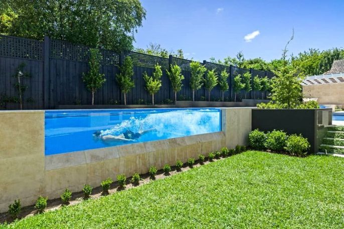 30 The Best Modern Swimming Pool Design For Your Home Trenduhome Pool Designs Lap Pool Designs Backyard Pool
